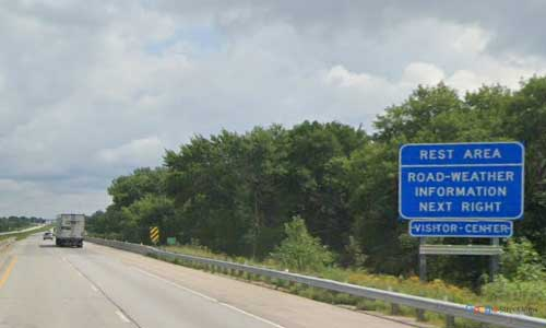 ne interstate 80 nebraska i80 blue river rest area marker 381 eastbound off ramp exit