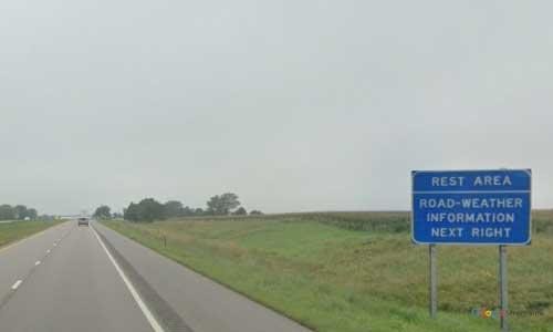 ne interstate 80 nebraska i80 grand island rest area marker 316 westbound off ramp exit