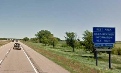 ne interstate 80 nebraska i80 ogallala welcome center rest area marker 124 eastbound off ramp exit