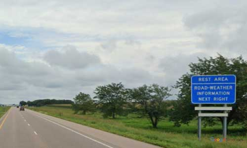 ne interstate 80 nebraska i80 york welcome center rest area marker 350 eastbound off ramp exit