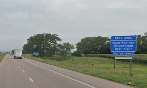 ne interstate 80 nebraska i80 york welcome center rest area marker 355 westbound off ramp exit